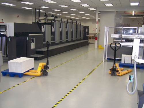coated manufacturing floor lg